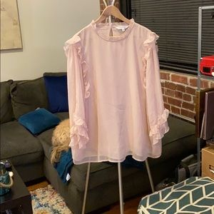 Pink crinkle blouse